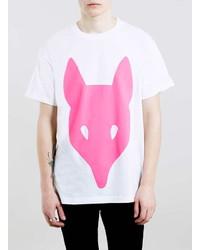 Topman Long White Printed T Shirt