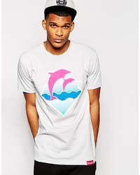 Pink Dolphin Waves T Shirt