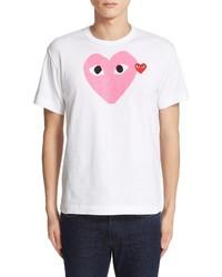 Comme des Garcons Play Heart Print T Shirt