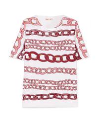 Marni Printed Cotton Jersey T Shirt