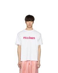 Palomo Spain White Lace Logo T Shirt