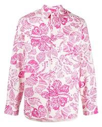 Marni Text Print Long Sleeve Shirt