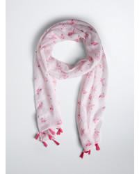 Torrid Flamingo Print Tassel Scarf