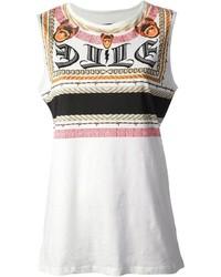 Les claires graphic print vest top medium 121638