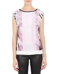 Mason print sleeveless top medium 121637