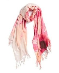 White and Pink Scarf