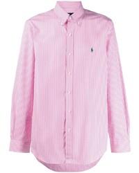 Polo Ralph Lauren Button Down Collar Pinstriped Shirt