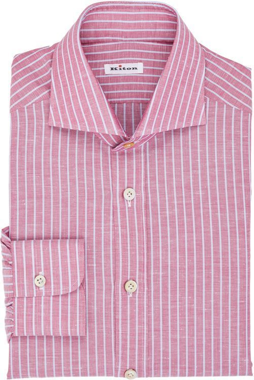 Kiton Mixed Stripe Shirt Pink | Where to buy & how to wear