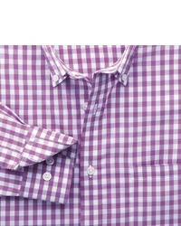 Charles Tyrwhitt Purple Gingham Non Iron Classic Fit Shirt