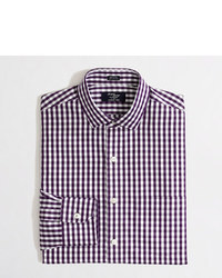 J.Crew Factory Wrinkle Free Voyager Dress Shirt In Medium Gingham
