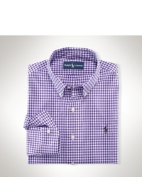 White and Purple Long Sleeve Shirt