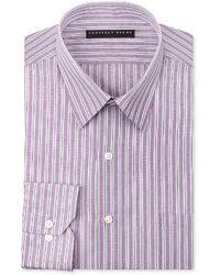 Geoffrey Beene Fitted Stripe Dress Shirt