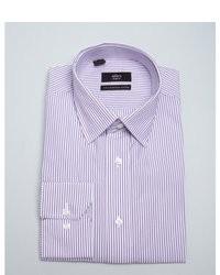 Alara Purple Bar Striped Slim Fit Dress Shirt