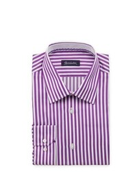 Robert Graham Walter Striped Dress Shirt Purple