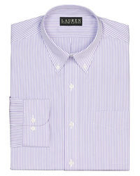 Lauren Ralph Lauren Slim Fit Striped Broadcloth Button Down Dress Shirt