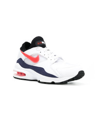 White and Red and Navy Athletic Shoes