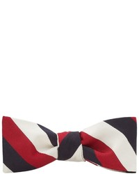 White and Red and Navy Bow-tie
