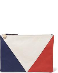 Clare v supreme color block textured leather clutch medium 534952
