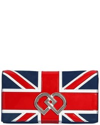 Dsquared2 Dd British Flag Suede Clutch