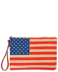 Riah Fashion American Flag Clutch