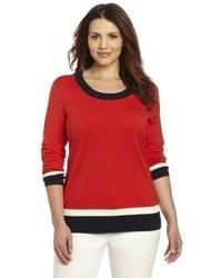 Plus size aurora pullover sweater medium 34138