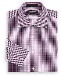Slim fit gingham cotton dress shirt gift box medium 421997