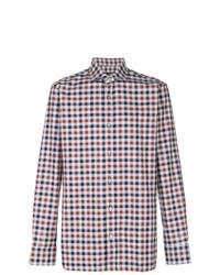 Z Zegna Checked Button Down Shirt