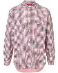 Junya Watanabe MAN Checked Print Patchwork Shirt