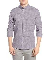 Nordstrom Men's Shop Tech Smart Slim Fit Mini Check Sport Shirt