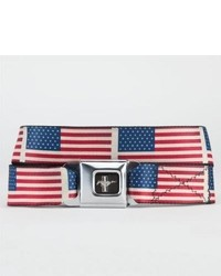 Buckle down mustang flag belt redwhiteblue one size for 224436948 medium 318453