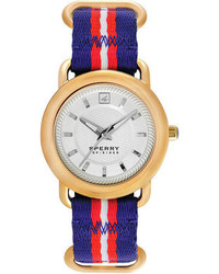 Top sider hayden blue and red stripe nylon strap watch 38mm 103257 medium 88875