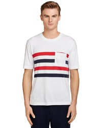 Brooks Brothers Chest Stripe Tee Shirt