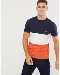 New Look Colourblock T Shirt With Toronto Embroidery In Orange