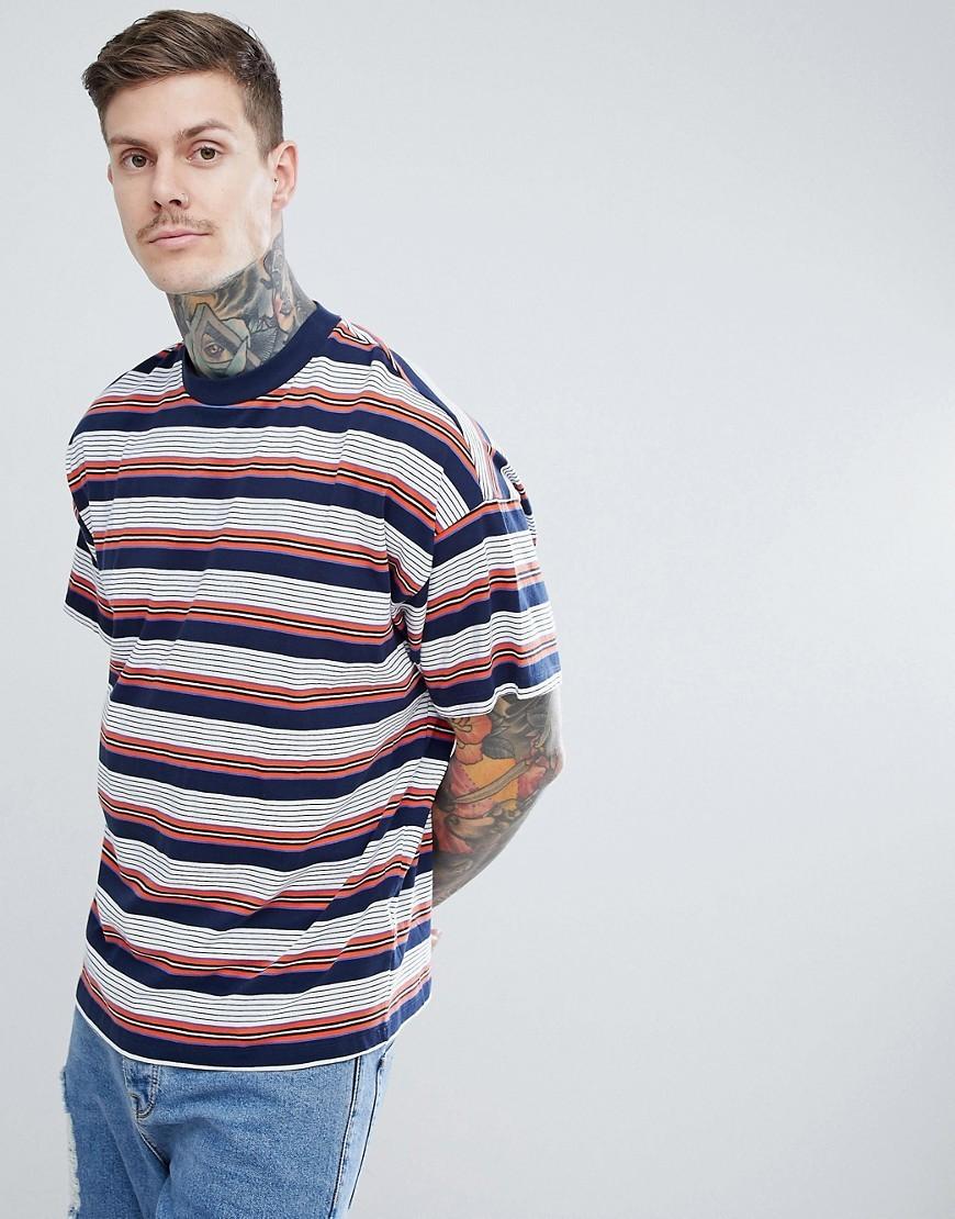 ASOS DESIGN Oversized Striped T Shirt