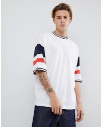 ASOS DESIGN Oversized T Shirt With Colour Blocking In White