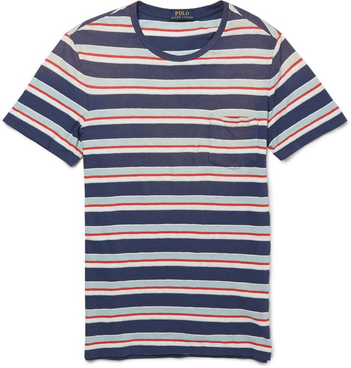 e402c4c0d6 Polo Ralph Lauren Striped Cotton Jersey T Shirt, $65 | MR PORTER ...