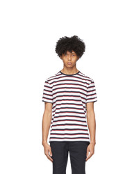 Ralph Lauren Purple Label White And Red Lisle T Shirt