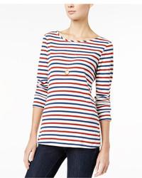 Striped long sleeve t shirt only at macys medium 1252959