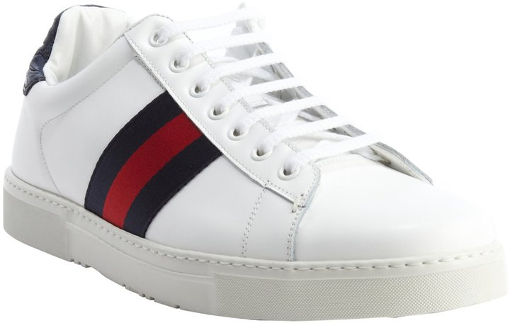 gucci blue and red stripe shoes