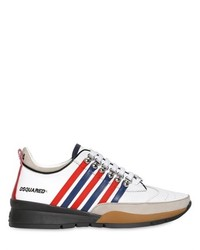 Striped leather suede sneakers medium 219558