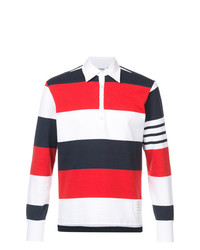 Thom Browne Ls Polo In Rugby Stripe W Engineered 4 Bar