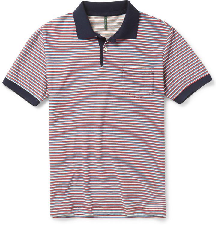 9bfcfeb4 ... sale incotex striped cotton polo shirt 86e9c 5c445