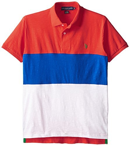 8d5a0bd8b https://cdn.lookastic.com/white-and-red-and-navy-horizontal-striped-polo /u-s-polo-assn-tri-color-wide-stripes-slim-fit-cotton-slub-polo-shirt-original-  ...