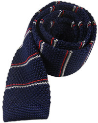 Knarrow knit stripe navy medium 350319