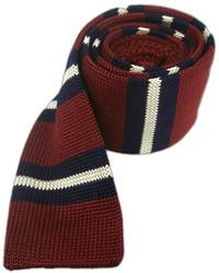 Knitted prep stripe burgundynavy medium 350317