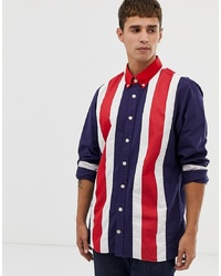 Tommy Hilfiger Oversized Bold Icon Shirt In Navy