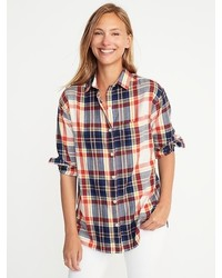 Boyfriend plaid flannel shirt for medium 6794253