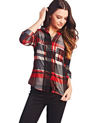 Classic plaid button up medium 85293