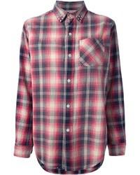 Current/Elliott Studded Plaid Shirt