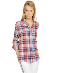 Etoile Isabel Marant Plaid Linen Cotton Shirt